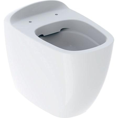Stojąca miska WC Geberit Citterio, lejowa, przylegająca do ściany, ukryte mocowania, Rimfree
