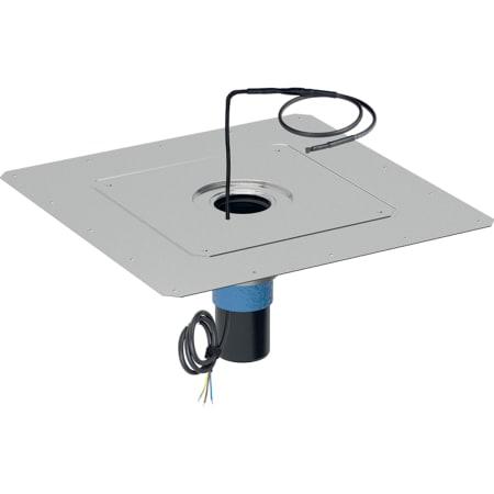 Sombrerete Geberit Pluvia con protección contra incendios y banda calefactora 230 V/11,2 W, d90