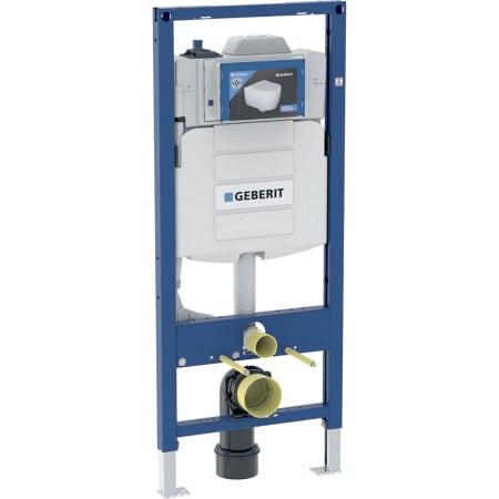 Element montażowy Geberit do wiszących misek WC, 120 cm, ze spłuczką podtynkową Sigma 12 cm, do spłukiwania higienicznego z jednym przyłączem wody i pomiarem przepływu
