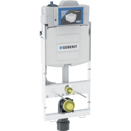 Element montażowy Geberit GIS do wiszących misek WC, 125 cm, ze spłuczką podtynkową Sigma 12 cm, do spłukiwania higienicznego z jednym przyłączem wody