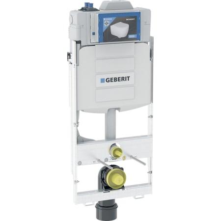 Element montażowy Geberit GIS do wiszących misek WC, 125 cm, ze spłuczką podtynkową Sigma 12 cm, do spłukiwania higienicznego z dwoma przyłączami wody i pomiarem przepływu