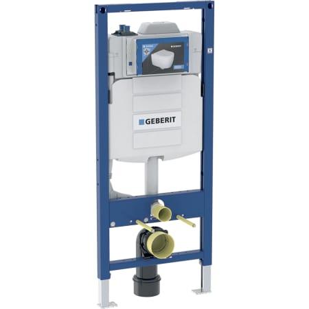 Element montażowy Geberit do wiszących misek WC, 120 cm, ze spłuczką podtynkową Sigma 12 cm, do spłukiwania higienicznego z dwoma przyłączami wody bez złączy