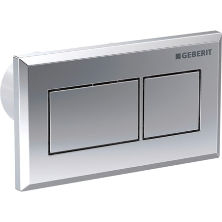 Geberit WC flush control with pneumatic flush actuation, dual flush, concealed actuator