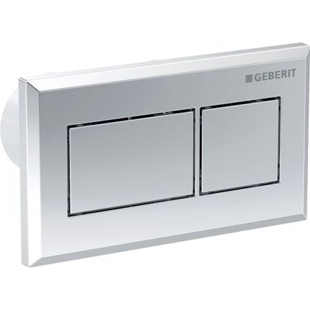 Geberit WC flush control with pneumatic flush actuation, dual flush, concealed actuator