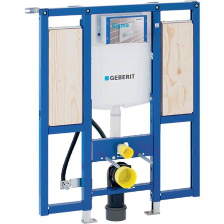 Bastidor Geberit Duofix para inodoro suspendido, 112 cm, con cisterna empotrada Sigma 12 cm, para discapacitados, sin barreras