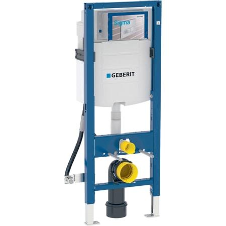 Bastidor Geberit Duofix para inodoro suspendido, 112 cm, con cisterna empotrada Sigma 12 cm, sin barreras
