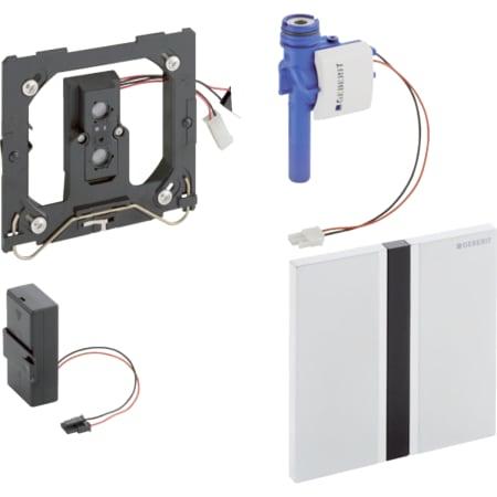 Geberit uređaj za ispiranje pisoara sa elektronskim aktiviranjem ispiranja, baterijsko napajanje, pokrivna ploča tip 50