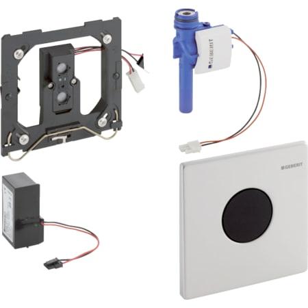 Geberit Urinalsteuerung mit elektronischer Spülauslösung, Netzbetrieb, Abdeckplatte Mambo