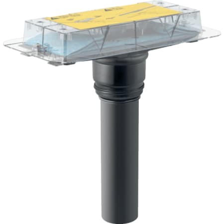 Kit d'installation Geberit pour canivelles de douche de la série CleanLine, installation avec traversée de dalle