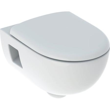 Geberit Renova -seinä-WC-sarja, osaksi suljettu muoto, Rimfree, sisältää WC-istuinkannen