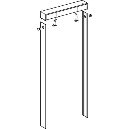 Set pour couvercle de la chasse d'eau avec habillage latéral, pour module sanitaire pour WC suspendu Geberit Monolith Plus, 114 cm, propre au client