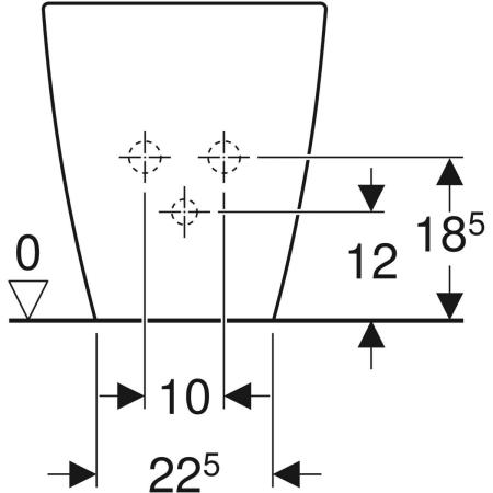 Geberit iCon floor-standing bidet, back-to-wall, shrouded