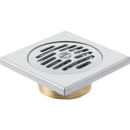 Bonde pour douche de plain-pied Geberit, grille fentes 10 x 10 cm