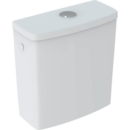 Geberit Selnova Square nazidni vodokotlić monoblok, dvokoličinsko ispiranje, priključno koljeno bočno, za WC s rubom za ispiranje
