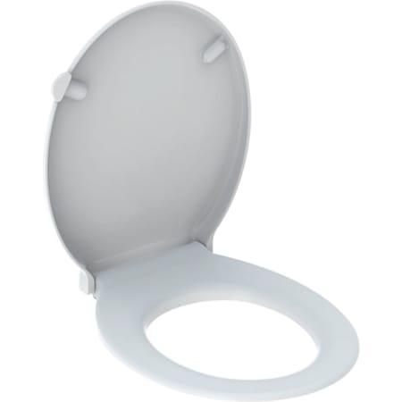 Geberit Renova Comfort wc-zitting, toegankelijk bouwen, antibacterieel, bevestiging langs boven