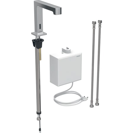 Geberit washbasin tap Brenta, deck-mounted, mains operation, with exposed function box