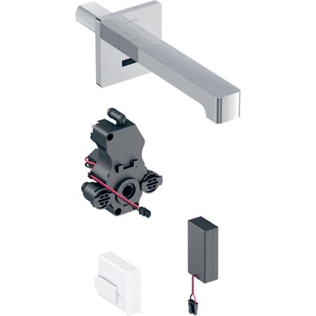 Geberit washbasin tap Brenta, wall-mounted, battery operation, for concealed function box