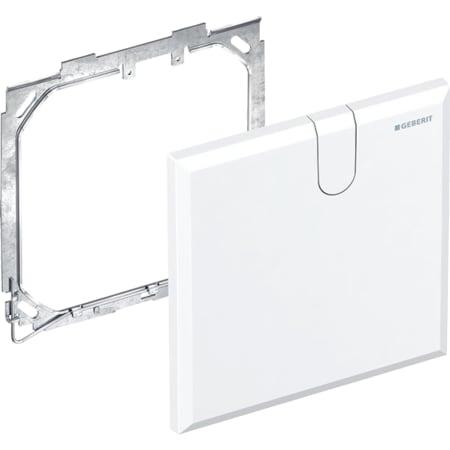 Placa ciega Geberit para grifo electrónico para lavabos con caja funcional empotrada