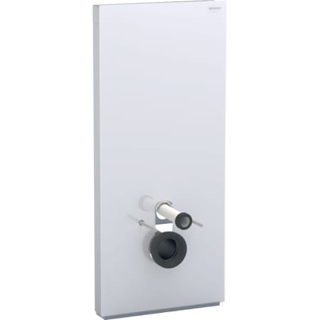 Geberit Monolith Plus sanitary module for wall-hung WC, 114 cm, front cladding made of glass