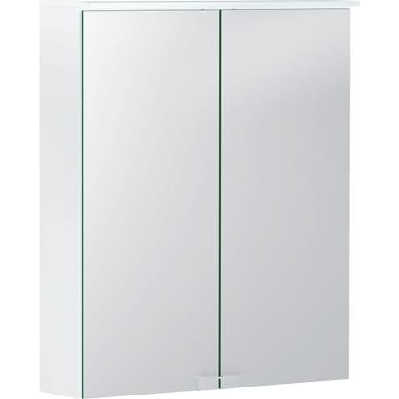 Geberit Option Basic -peilikaappi valaistuksella ja kahdella ovella