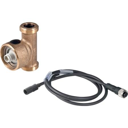 Capteur de température et de débit volumique Geberit pour rinçage forcé hygiénique, extrémité de connecteur