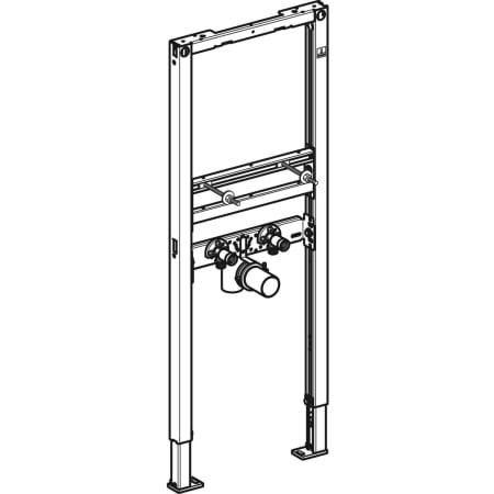 Geberit Duofix element voor wastafel, 112 cm, smalle uitvoering, staande kraan