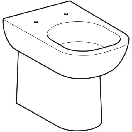 Geberit Smyle floor-standing WC, washdown, back-to-wall, semi-shrouded