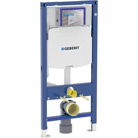 Bastidor Geberit Duofix para inodoro suspendido, 112 cm, con cisterna empotrada Sigma 12 cm, codo de desagüe de PVC