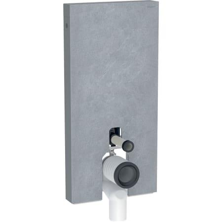 Módulo sanitario Geberit Monolith para inodoro al suelo, 101 cm, revestimiento frontal de gres