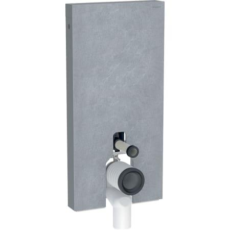 Module sanitaire Geberit Monolith Plus pour WC au sol, 101 cm, habillage frontal en grès-céramique