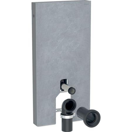 Geberit Monolith Plus -säiliömoduuli lattia-WC:lle, 101 cm, etupaneelit kivimateriaalista