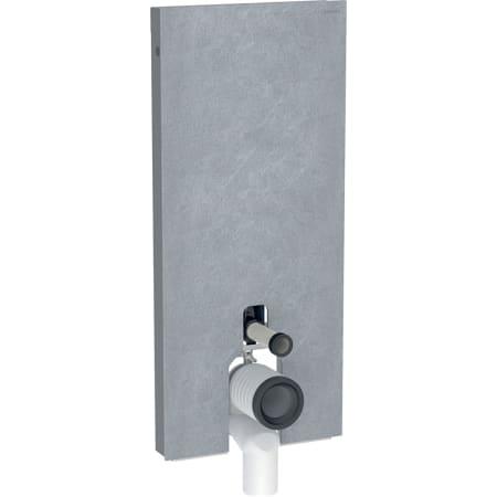 Geberit Monolith -säiliömoduuli lattia-WC:lle, 114 cm, etupaneelit kivimateriaalista