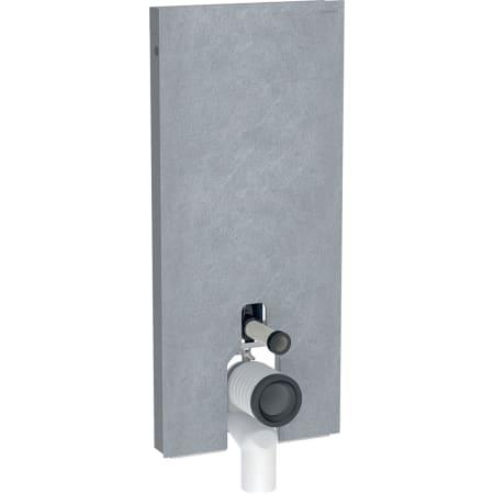 Module sanitaire Geberit Monolith Plus pour WC au sol, 114 cm, habillage frontal en grès-céramique