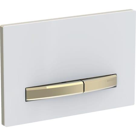 Geberit Betätigungsplatte Sigma50, für 2-Mengen-Spülung, Metallfarbe Messing