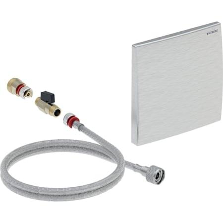Geberit zamenski set za uređaj za ispiranje pisoara, tipka za aktiviranje 16 x 16 cm, za instalacioni element ili ugradni set za montažu sa ispirnom cevi