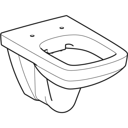 Geberit Selnova Square wall-hung WC, washdown, Rimfree
