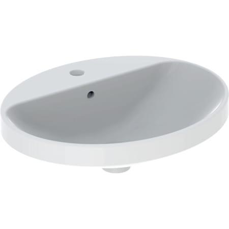 Lavabo ad incasso Geberit VariForm ovale, con piano per foro rubinetto