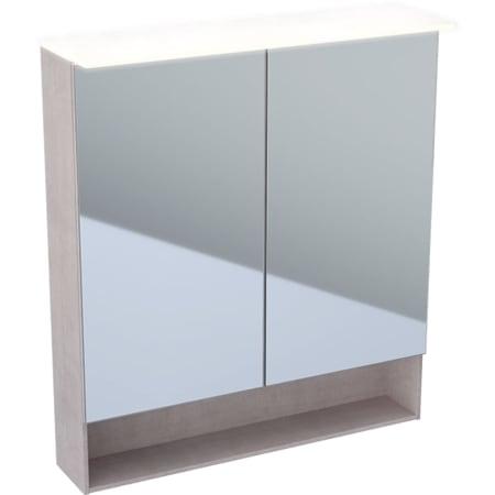 Geberit Acanto -peilikaappi valolla, kahdella ovella