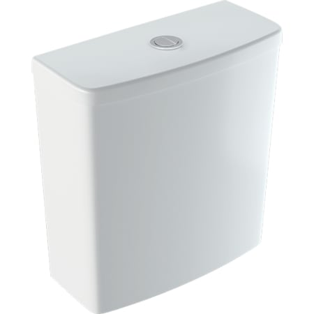 Geberit Selnova Square exposed cistern, close-coupled, dual flush, bottom water supply connection