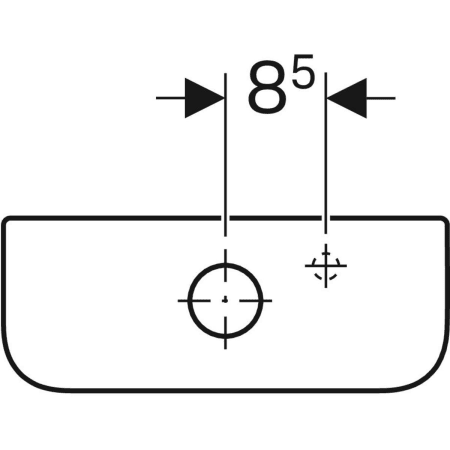Geberit Smyle Square exposed cistern, close-coupled, dual flush, bottom water supply connection