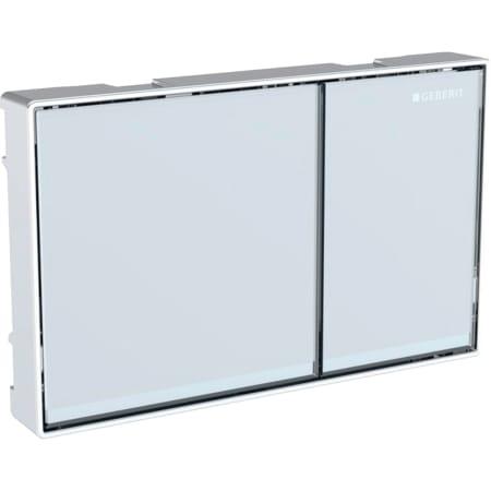 Geberit flush plate Omega60, for dual flush, surface-even