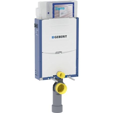 Bastidor Geberit Kombifix para inodoro suspendido, 108 cm, con cisterna empotrada Sigma 12 cm, codo de desagüe de PVC