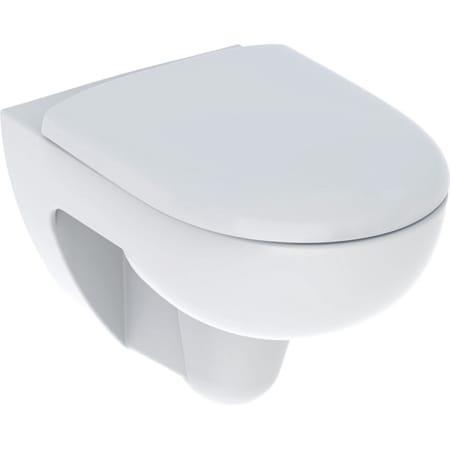 Geberit Renova set hang-wc diepspoeler, Rimfree, met wc-zitting