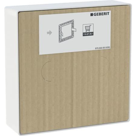 Geberit beschermdeksel voor afdekplaat vlak geïntegreerd, voor wastafelkranen met inbouw-functiebox