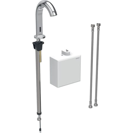 Geberit washbasin tap Piave, deck-mounted, battery operation, with exposed function box
