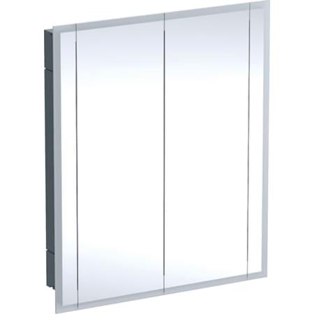 Geberit ONE -peilikaappi valaistuksella ja kahdella ovella, korkeus 100 cm