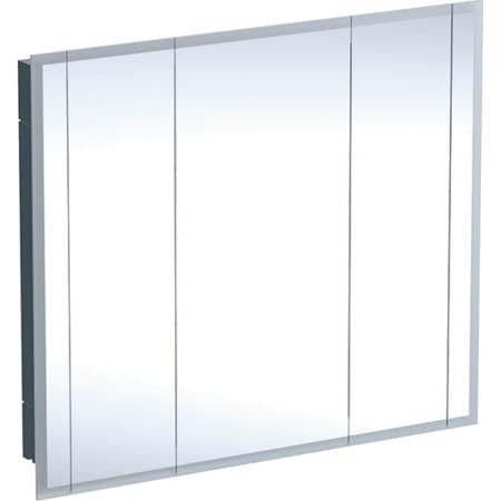 Geberit ONE -peilikaappi valaistuksella ja kolmella ovella, korkeus 100 cm
