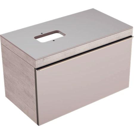 Szafka Geberit Citterio pod umywalkę stawianą na blat, z jedną szufladą