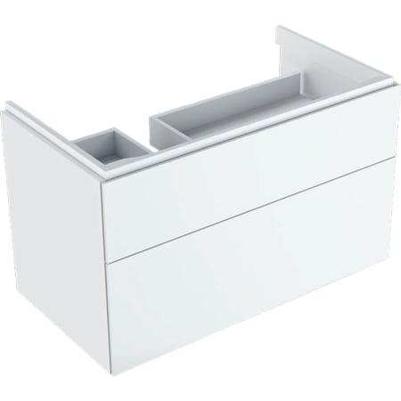Geberit Xeno² underskab til håndvask med fralægningsplads, med to skuffer