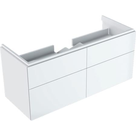 Geberit Xeno² underskab til håndvask, med bredde fra 120 cm, med fire skuffer